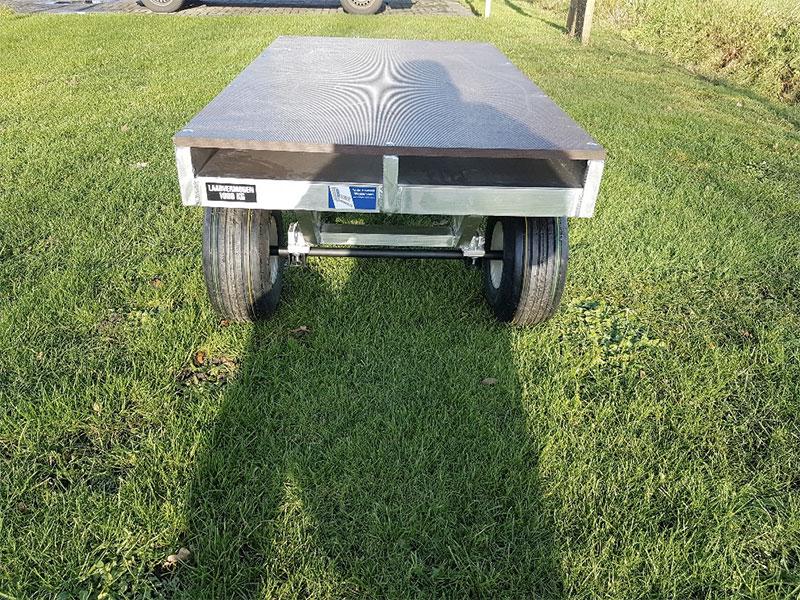 Aluminium materiaal wagen achterkant